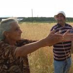 Armenian farmer at Turkish border
